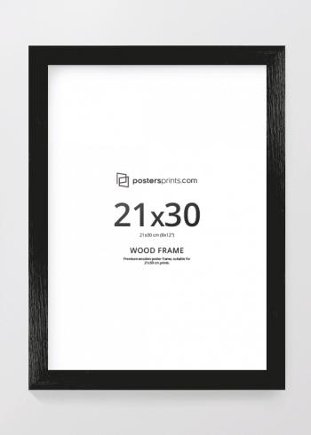 BILDERRAHMEN SCHWARZ 21x30