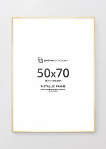 BILDERRAHMEN GOLD 50x70