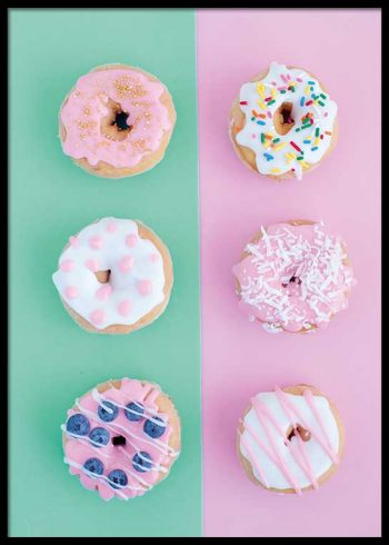 PASTEL DONUTS POSTERS