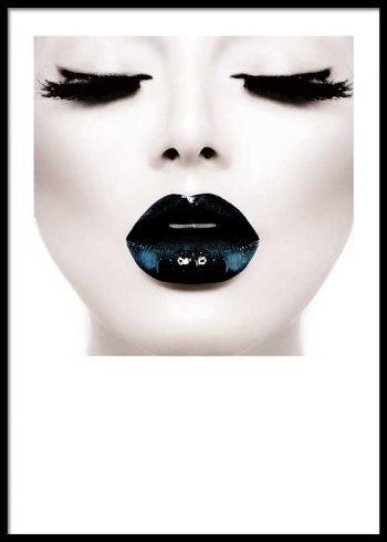BLACK LIPS POSTER