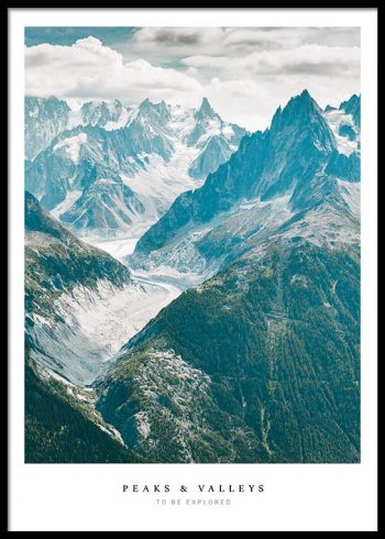 PEAKS AND VALLEYS POSTER