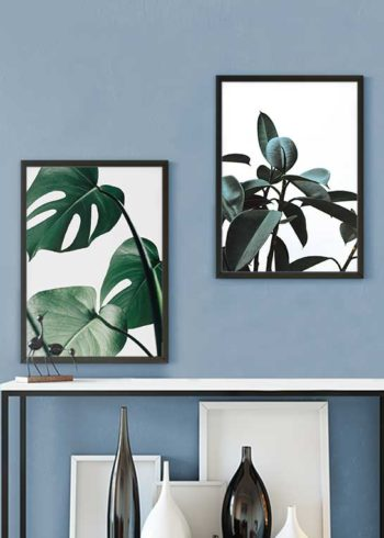 MONSTERA LEAVES NO. 1 & GREEN PLANT POSTERS