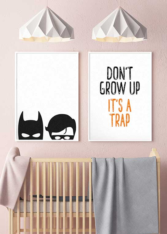 DONT GROW UP & BATMAN AND ROBIN POSTERS