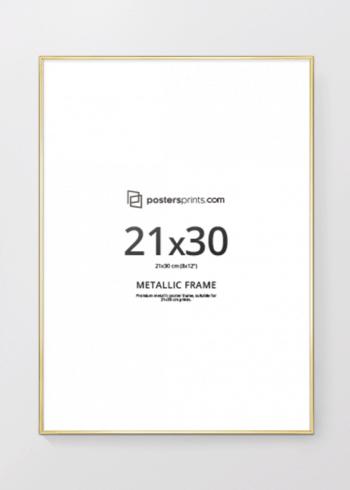 BILDERRAHMEN GOLD 21x30