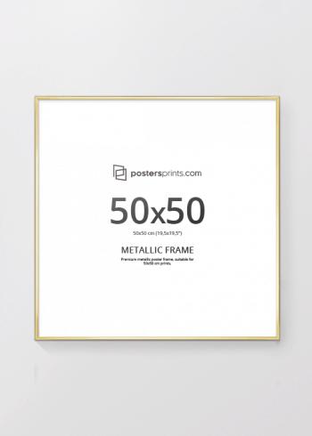 BILDERRAHMEN GOLD 50x50