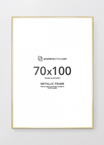 BILDERRAHMEN GOLD 70x100