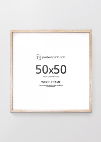 BILDERRAHMEN EICHE 50x50