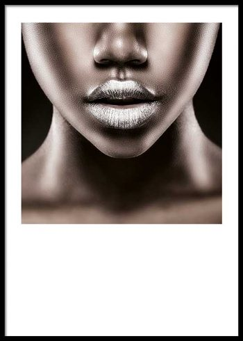 SILVER LIPS POSTER