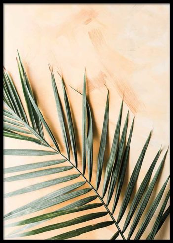 PALM ON YELLOW POSTER