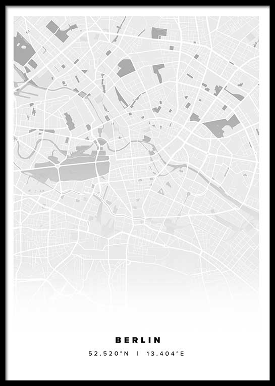 berlin stadtplan poster postersprints. Black Bedroom Furniture Sets. Home Design Ideas