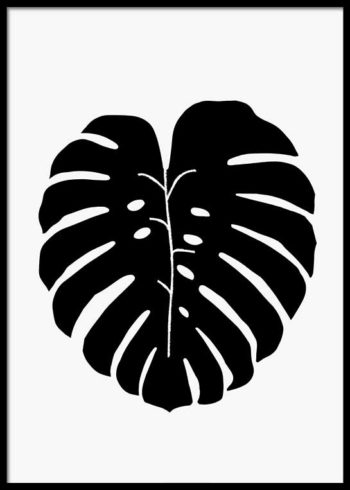 BLACK MONSTERA POSTER