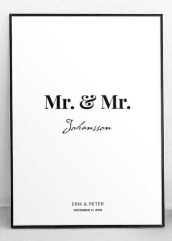 MR. & MR. PERSÖNLICHE POSTER