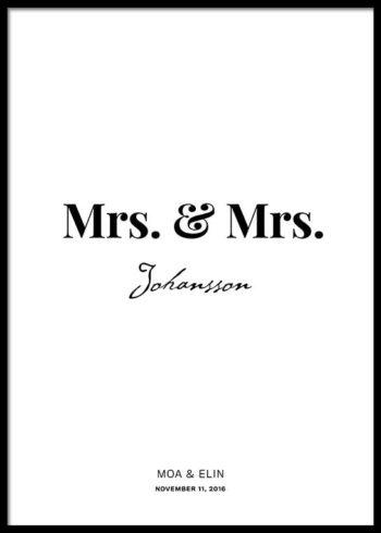 MRS. & MRS. PERSÖNLICHE POSTER